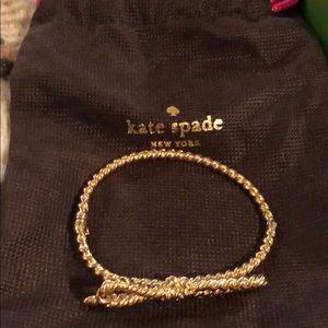 Kate spade bow bracelet. Skinny mini rope.